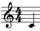 Screenshot of a C natural note
