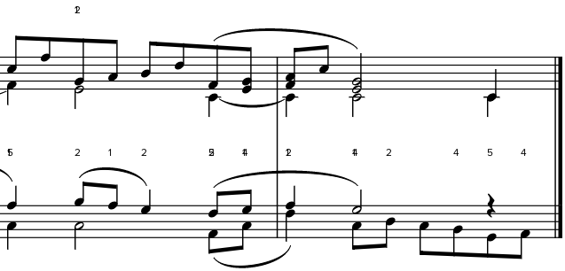 Screenshot of old fingerings