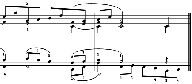 Screenshot of new fingerings