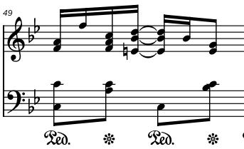 Screenshot of pedal notation