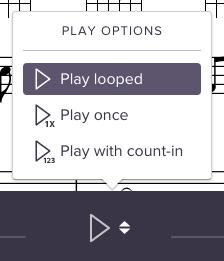 Screenshot of new menu