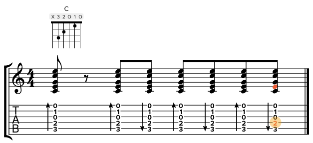 Screenshot of notation