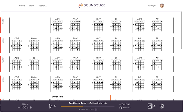 New: Chord chart view with chord diagrams | The Soundslice Blog
