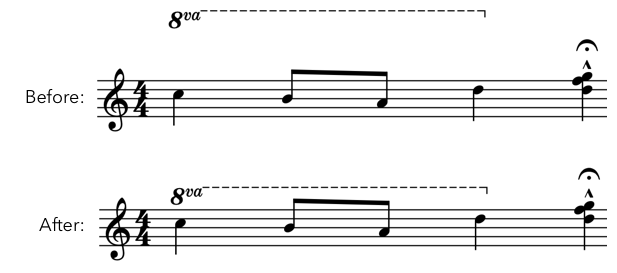 Screenshot of notation